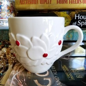 Starbucks Holiday Holly Red Berries Porcelain Mug